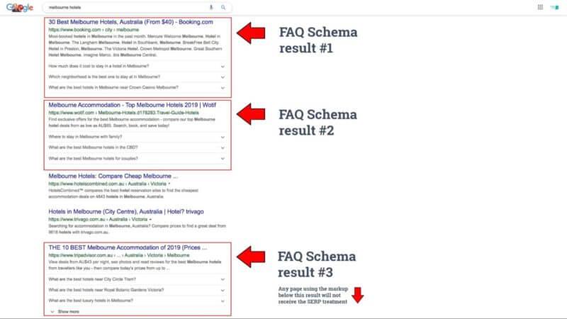 چرا FAQ در SERP ممکن است برای بعضی وبسایت ها حذف شود؟